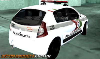 Renault Sandero da PMESC para GTA San Andreas