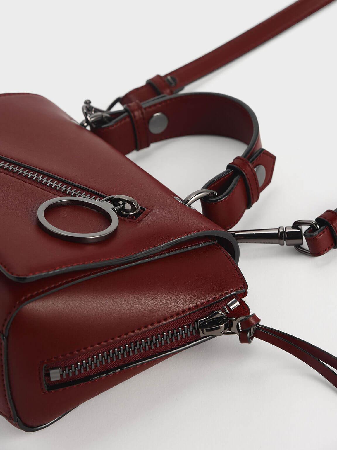 ring zip pocket trapeze bag