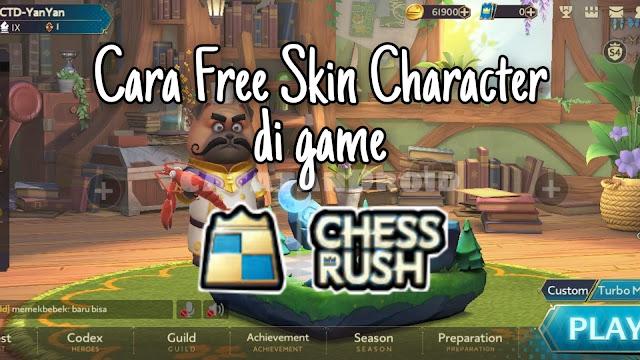 Cara Mendapatkan Karakter Skin Gratis di Game Chess Rush