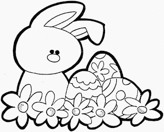 Easter Cute Bunny Coloring pages