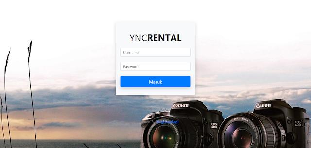 PHP Rental Penyewaan Kamera Berbasis Web dengan CI