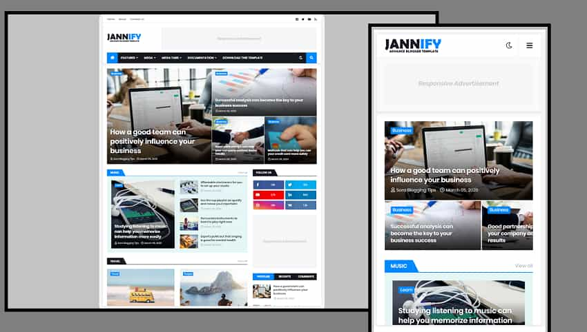 Jannify Blogger Template Image