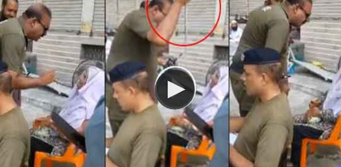 Police authority gets out of hand with old woman who came to meet IG Punjab