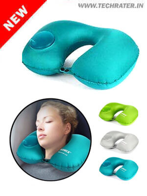 Neck Pillow for Travelling Quick Inflatable & Foldable