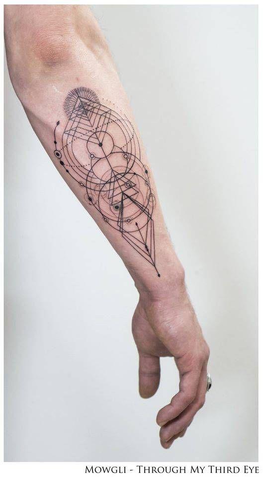 Forearm Solar System Tattoo