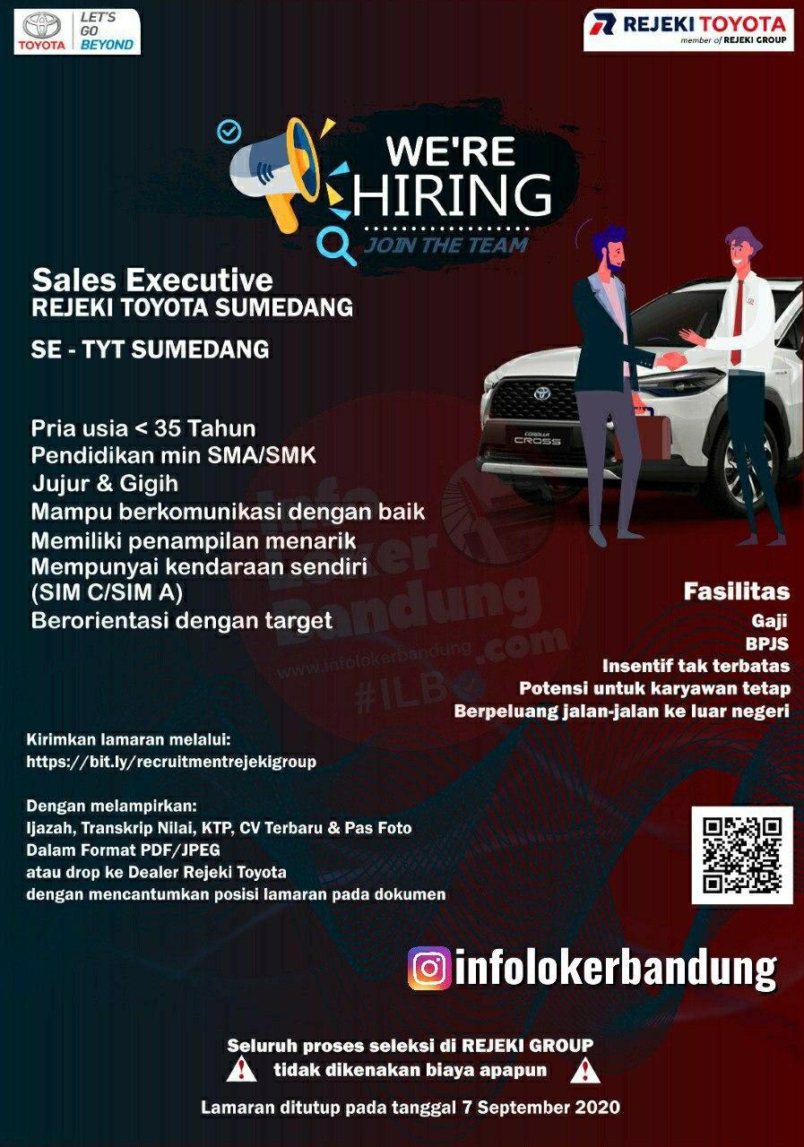 Lowongan Kerja Sales Executive Rejeki Toyota Agustus 2020