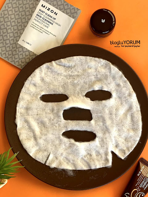 mizon dust clean up deep cleansing mask köpüren maske incelemesi 4