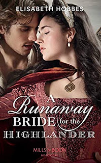 A Runaway Bride For The Highlander by Elisabeth Hobbes cover
