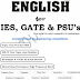 English PDF Download for IES, GATE, PSUs, etc.