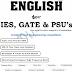 English PDF Download for IES, GATE, PSUs, etc.