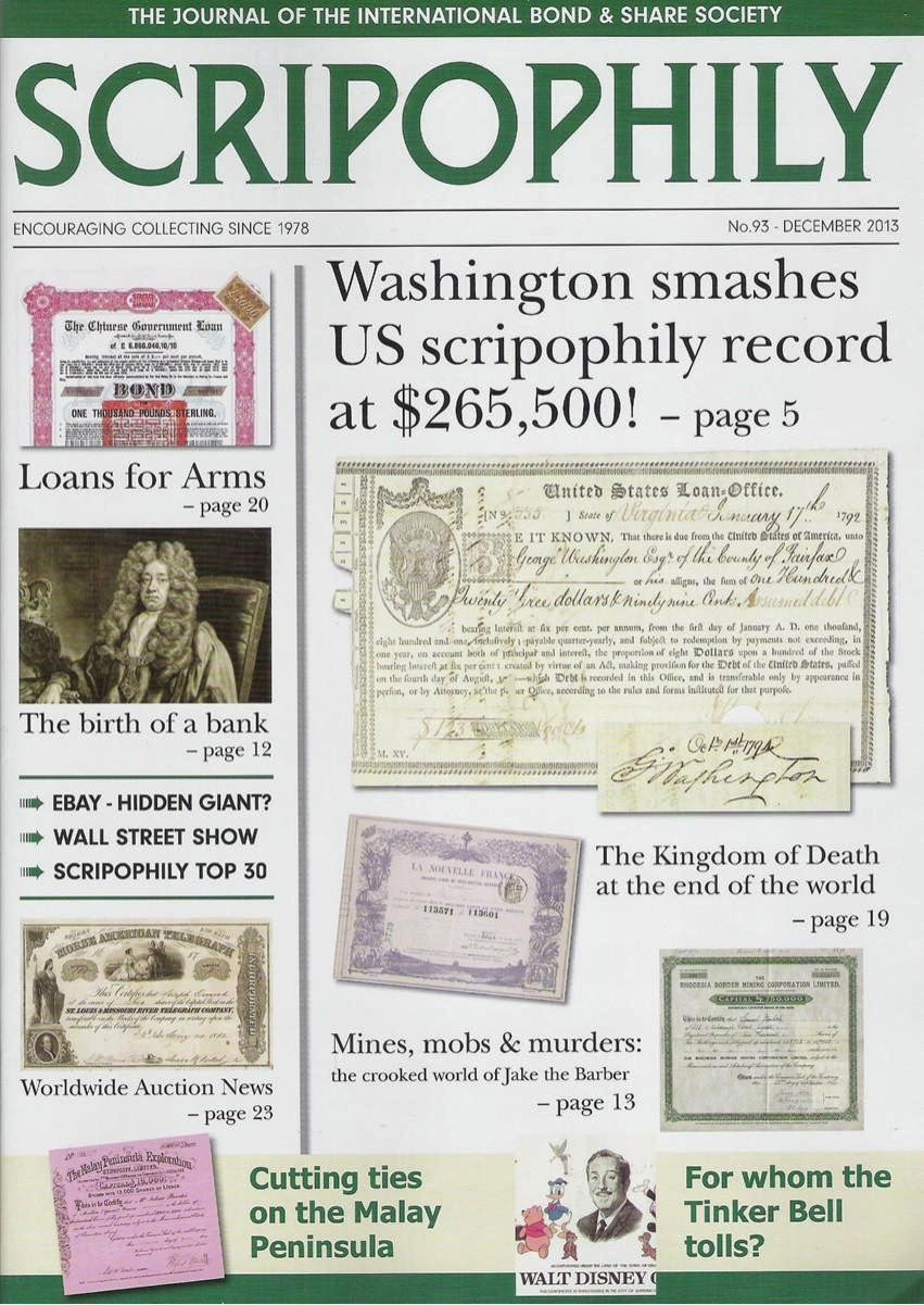 Scripophily magazine from the International Bond and Share Society
