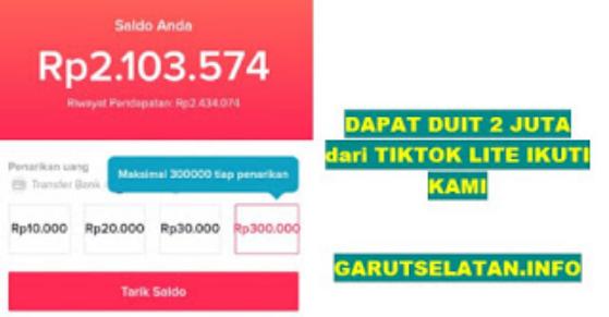 Mau Dapat Uang ? Unduh Aplikasi Tiktok Lite Aplikasi Penghasil Uang