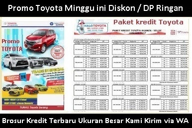 brosur kredit mobil toyota avanza palembang