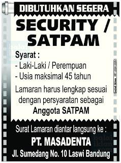 Lowongan Kerja Security di Bandung