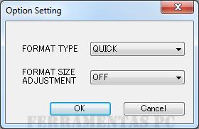 SD Formatter - Configuração