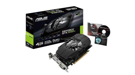 Asus GeForce GTX 1050 Ti 4GB GDDR5