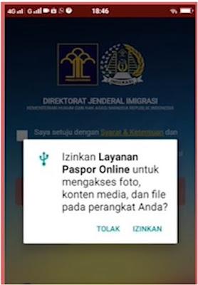 cara daftar antrian paspor online aplikasi