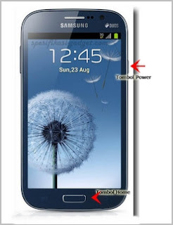 Screenshot pada Samsung Galaxy Grand Duos