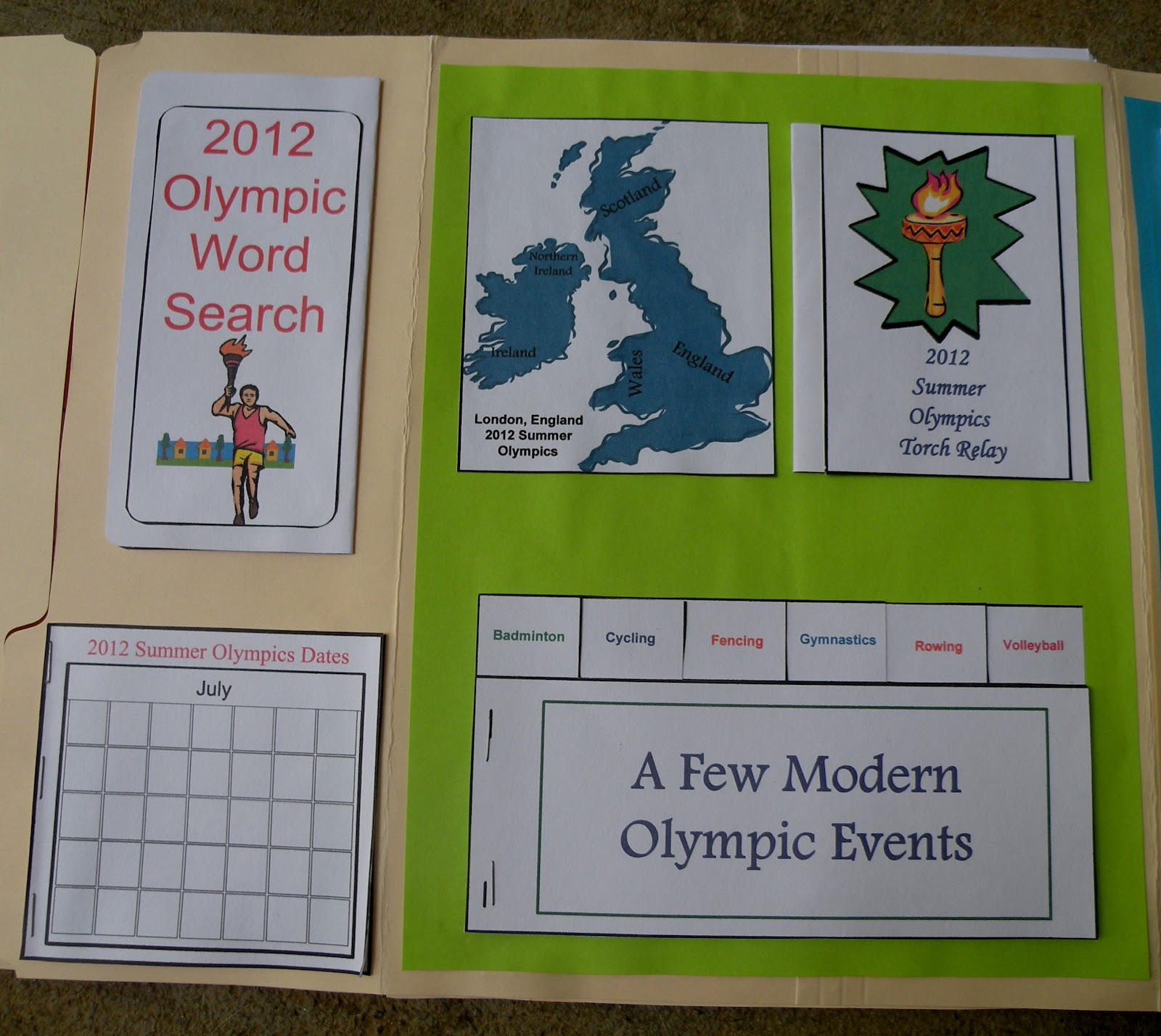 The Fantastic Five Olympic Lapbook Learning