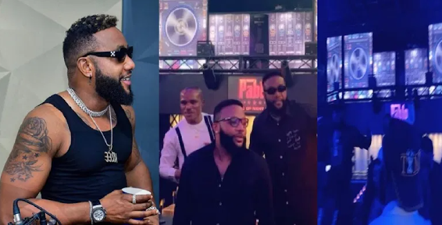 Nigerian Singer, Kcee Turns His Night Club Into A Worship Center As He Leads Others To Worship God (Video)