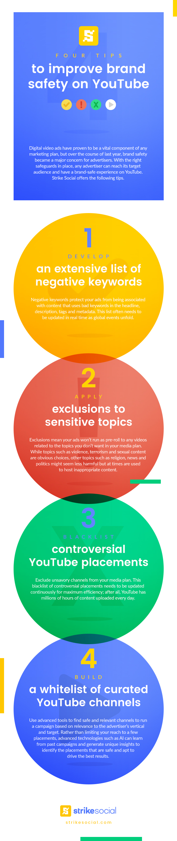 Four Tips to improve brand safety On YouTube #infographic