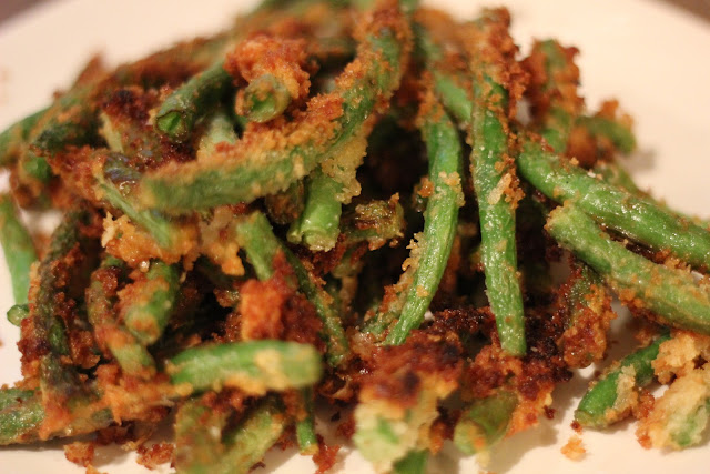 No Place Lyke Home Panko Fried Green Beans With Spicy