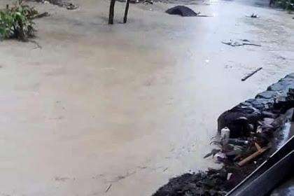 diguyur hujan, sungai dukuh bengkah meluap