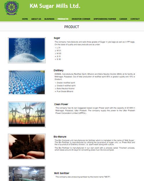 K M Sugar Mills Ltd Product Analysis