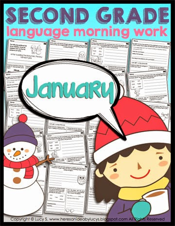 Second Grade Language Morning Work: January