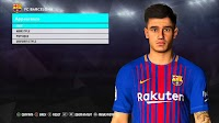 New Face Philippe Coutinho + Tattoo - PES 2017