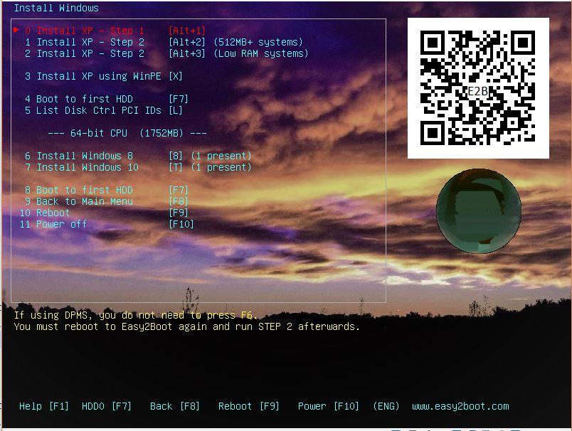RMPrepUSB, Easy2Boot and USB booting: Cassini-Huygens ...
