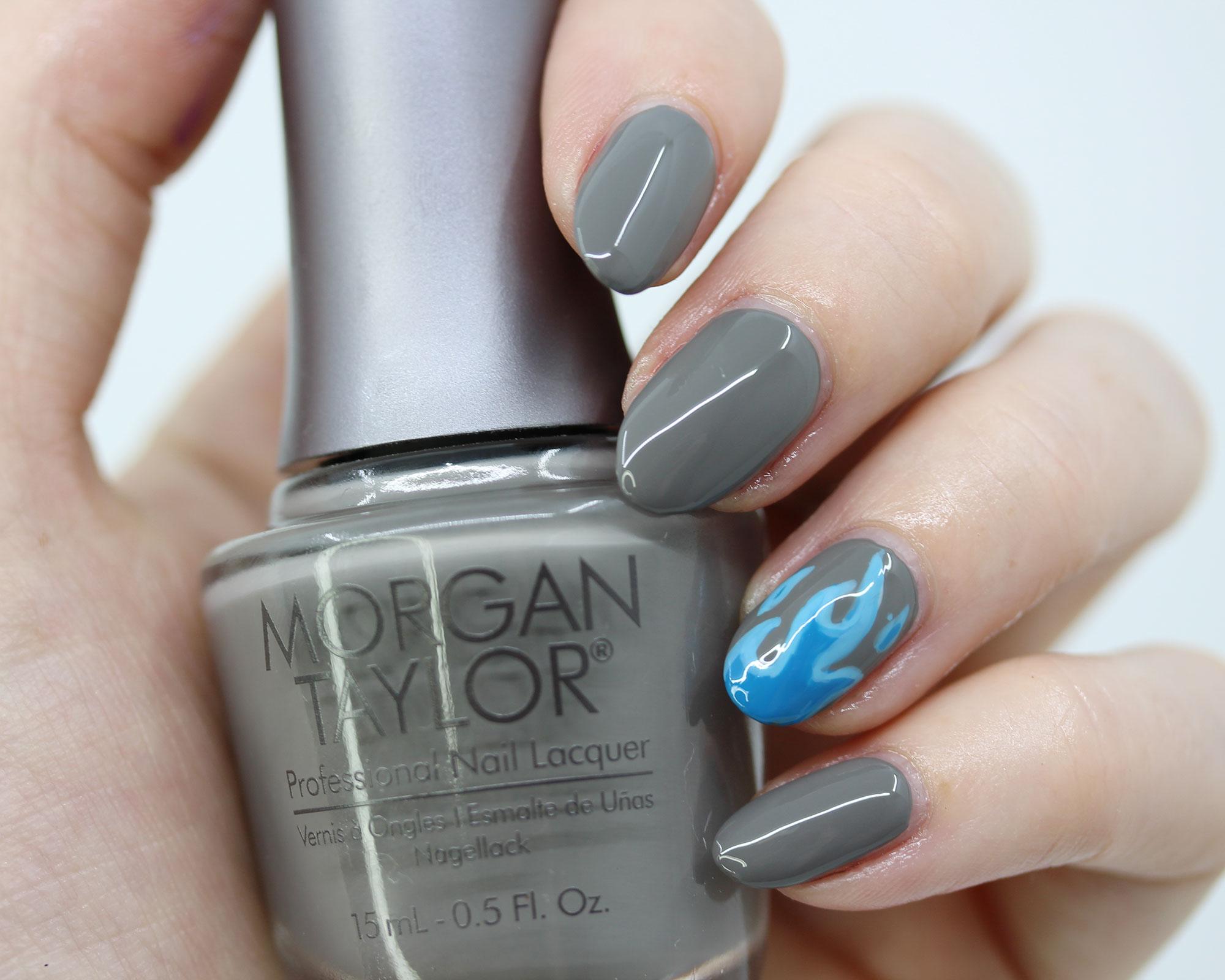 Morgan Taylor Smoke the Competition - Disney Hades-inspired nail polish