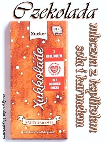 Czekolada mleczna z ksylitolem, solą i karmelem - Xucker