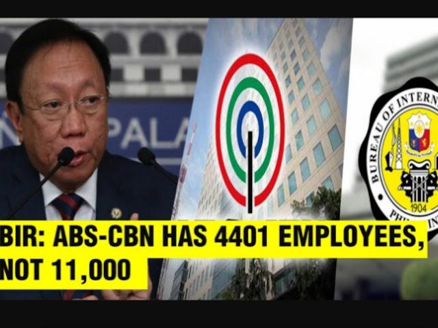 ABS-CBN nabuking ng BIR ang hindi wastong pag-declare ng number of Employee