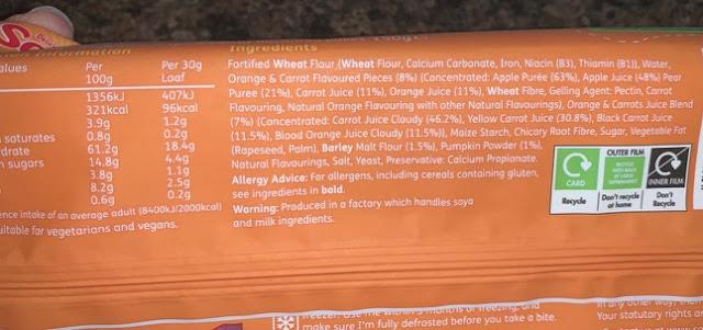 Soreen Fruit & Veg-Mmms Orange & Rainbow Carrot Bakes