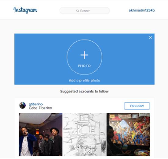 Mengunggah foto profile ke instagram