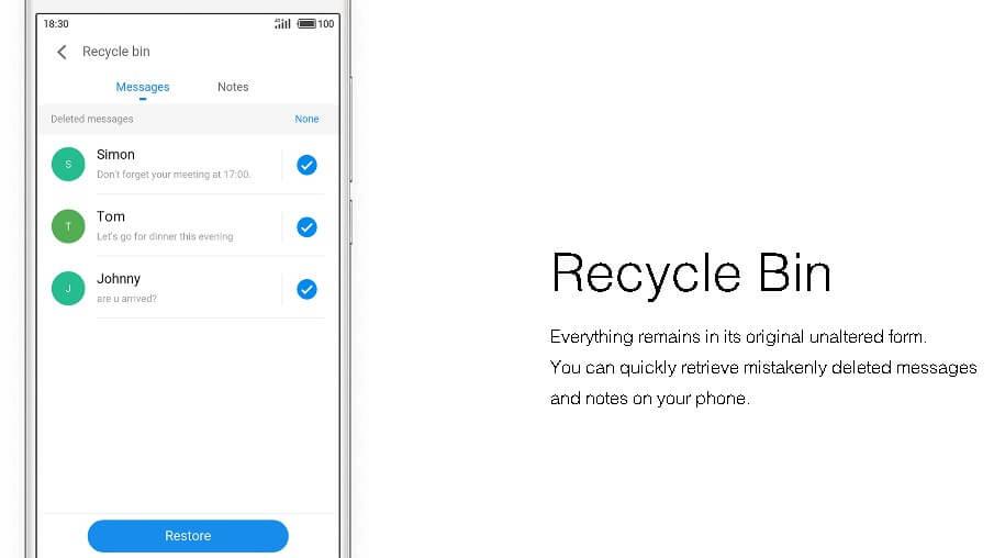 flyme 6 - recycle bin