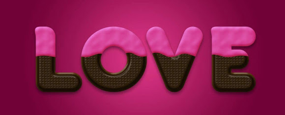 Chocolate Text Effect in Photoshop for Valentine's Day