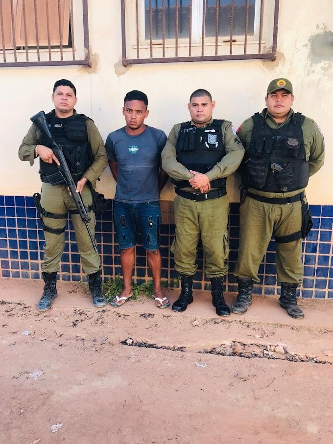 Preso na comunidade São Martins  acusado de matar homem a facadas no garimpo Pimenteira