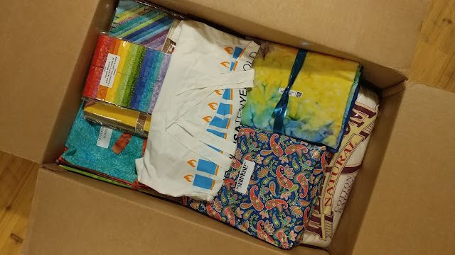 Box of goodies from Island Batik