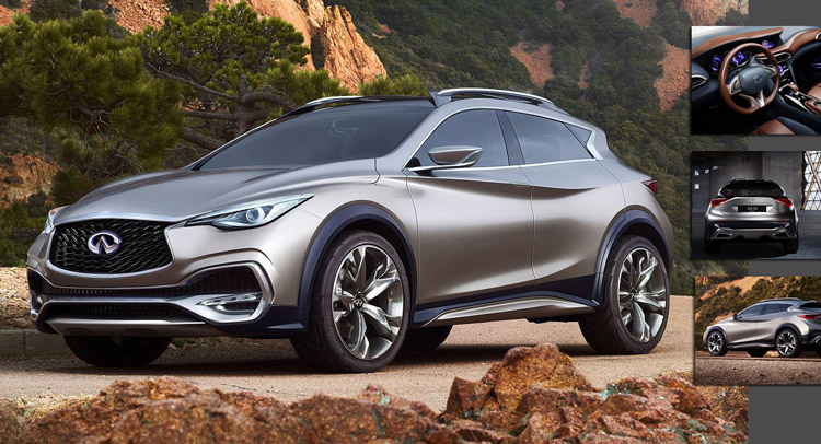new infiniti qx30 concept revealed in detail previews next year 39 s production car. Black Bedroom Furniture Sets. Home Design Ideas
