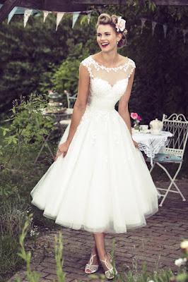 Vintage Calf Length short Gown white color