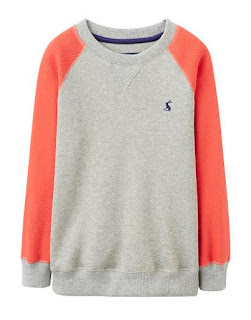 Joules Spring Fashion for children Boys Grey Marl Red Sweatshirt