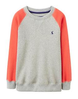 Joules Spring Fashion for children Boys Grey Marl Red Sweatshirt