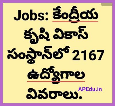 Jobs: Kendriya Krishi Vikas Sansthan 2167 jobs ...