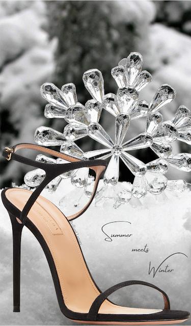 Aquazzura Naked elegant black suede sandal #brilliantluxury