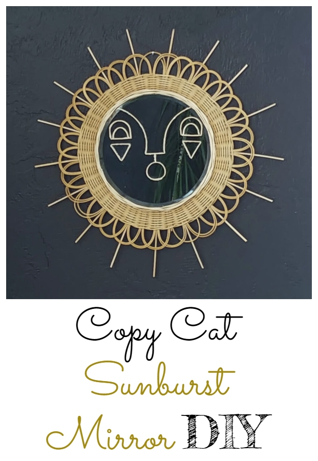 Copy Cat Sunburst Mirror DIY