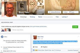 Lewat Facebook, Buni Yani Mengaku Selepas jadi Tersangka Langsung Ditahan - Commando