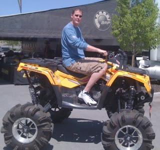Picture of Shawn Bradley with a sand bike