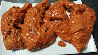 Chicken in red masala marination for Tandoori chicken recipe